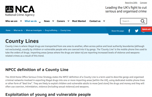 County Lines - National Crime Agency