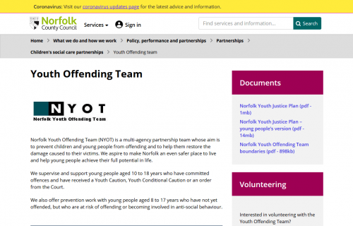 Youth Offending Team (YOT) Norfolk