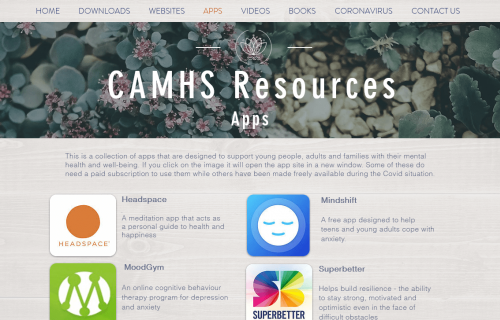 Mental health and well-being apps